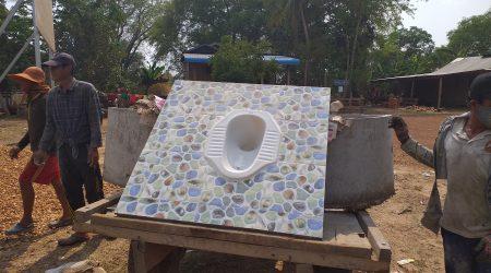 Latrine contraction at Anlong Phe village (1)