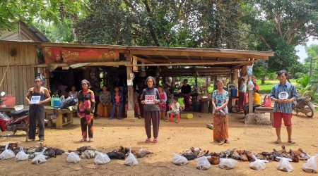 Provide chicken to FHH, Disable, Poorest at Anlong Saam