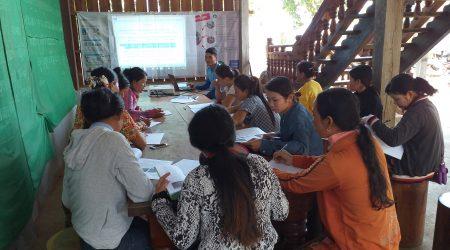 Training Vegetable resilient at KamPhun village
